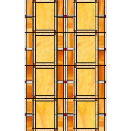 Folie geamuri Vitralii chihlimbar 45cm