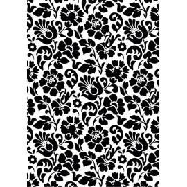 Autocolant decorativ Baroc negru 45cm