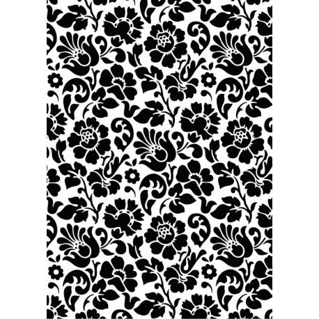 Autocolant decorativ Baroc negru 67cm