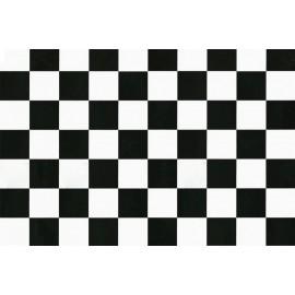 Autocolant decorativ Carouri alb-negre mari 45cm