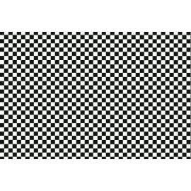 Autocolant decorativ Carouri alb-negre mici 45cm