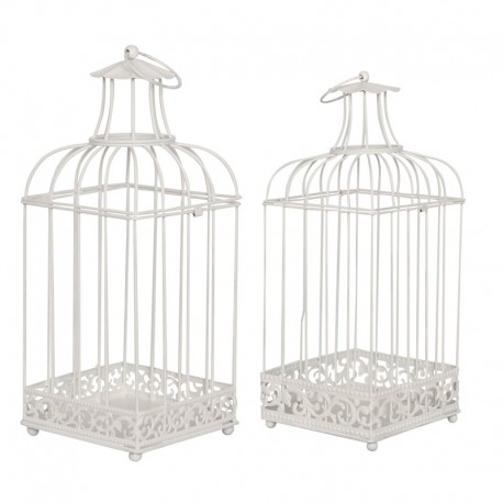 Set colivii decorative Shabby Chic albe