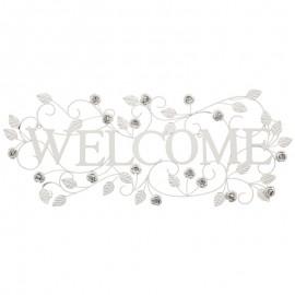 Decoratiune perete Welcome cu trandafiri