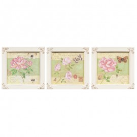Tablouri decorative Shabby Chic - set 3 bucati