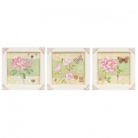 Tablouri decorative Shabby Chic - set 3 bucati