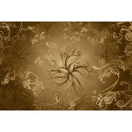 Fototapet Model floral auriu Baroc