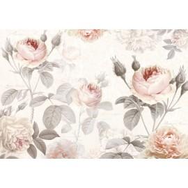 Amenajare cu Fototapet Trandafiri roz in acuarela