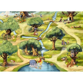 Fototapet Winnie the Pooh Hundred Acre Wood
