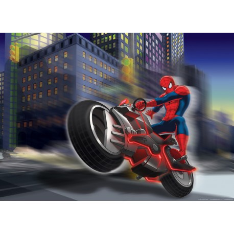 Fototapet Spiderman on bike