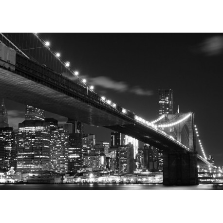 Fototapet Brooklyn Bridge alb-negru