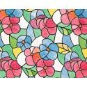 Folie geamuri Vitralii portugheze rosii 45 cm