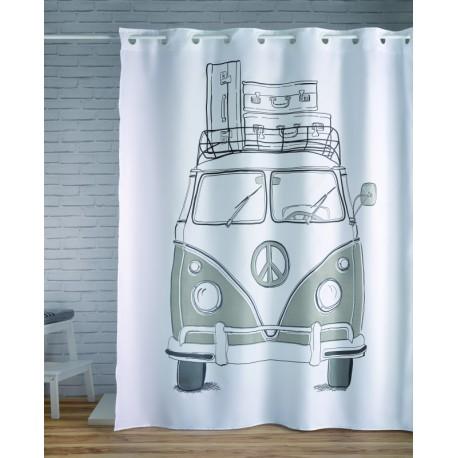 Perdea dus alba VW Transporter alb-negru