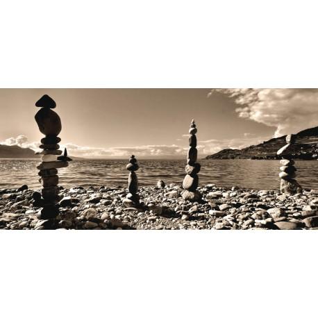 Fototapet Peisaje - Pietre pe tarmul marii