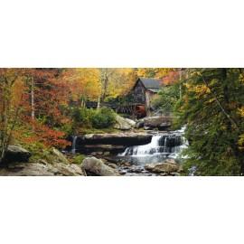 Fototapet Peisaje - Cascada cu moara de apa