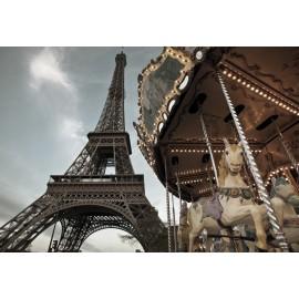 Fototapet orase Paris - Eiffel Tower Carousel