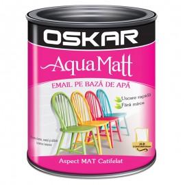 Cutie decorata cu vopsea acrilica Oskar Aqua Matt Alb contemporan