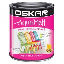 Vopsea acrilica Oskar Aqua Matt Galben pret-a-porter 0.6l
