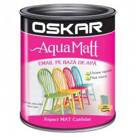 Vopsea acrilica Oskar Aqua Matt Gri creativ 0.6l