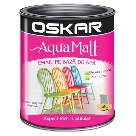 Vopsea acrilica Oskar Aqua Matt Gri creativ