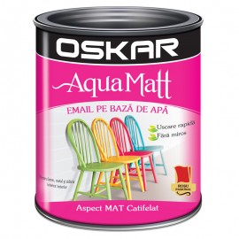 Vopsea acrilica Oskar Aqua Matt Rosu pasional 0.6l