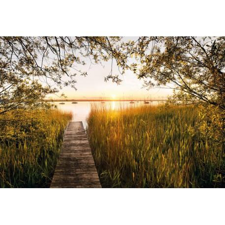 Fototapet peisaje - Apus de soare pe lac