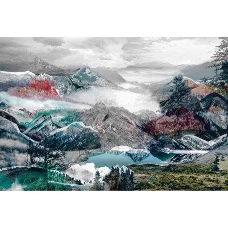 Fototapet peisaje montane abstracte