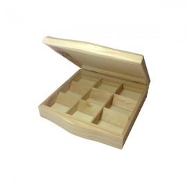 Cutie lemn cu 9 compartimente