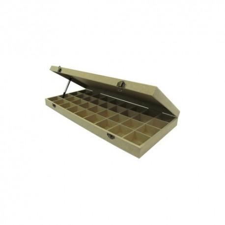 Cutie lemn cu 36 compartimente pentru plicuri de ceai