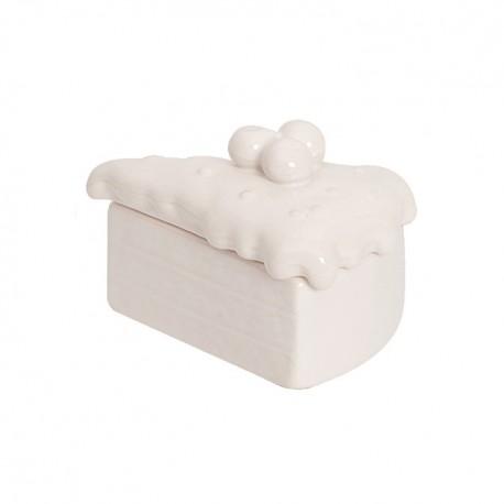 Cutiuta bijuterii din ceramica - Felie tort