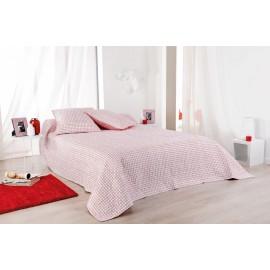 Cuvertura pat rosie Alicante cu fete de perna