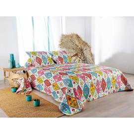 Cuvertura de pat Gipsy cu romburi multicolore