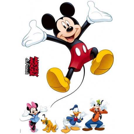 Stickere perete Mickey Mouse si amicii