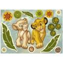 Stickere perete Lion King - Simba si Nala