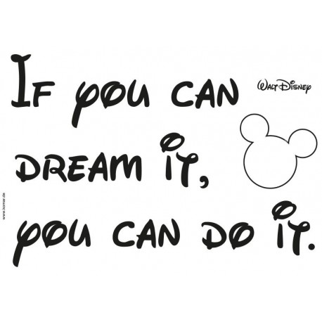 Stickere perete Disney - You can do it
