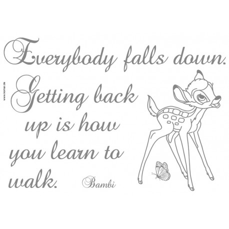 Stickere perete Bambi - Getting back up