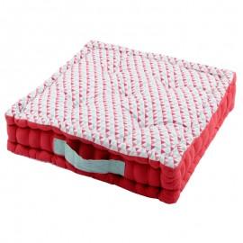 Perna podea Isocele rosie cu triunghiuri