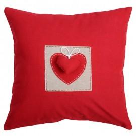 Perna decorativa Joliesse rosie cu inimioara