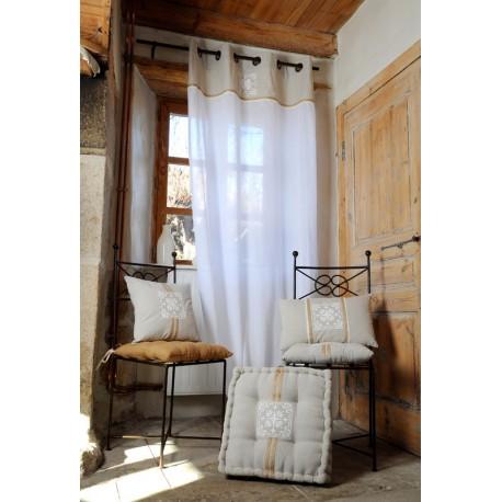 Perdea rustica alba Chambord