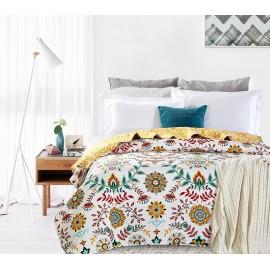 Cuvertura pat Antonella cu flori colorate