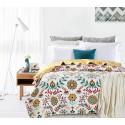 Cuvertura pat cu flori colorate Antonella