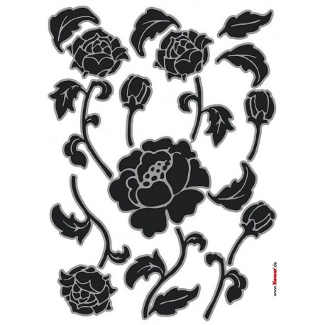 Stickere perete Flori alb-negru