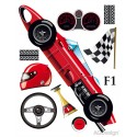 Stickere perete Masina Formula 1