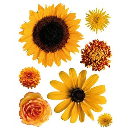 Decor perete Flori galbene