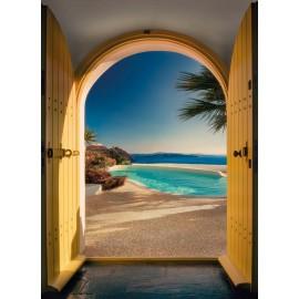 Fototapet Vila din Santorini