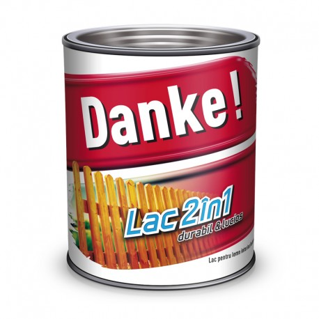 Lac colorat pentru lemn Danke 2 in 1 Cires 0.75l