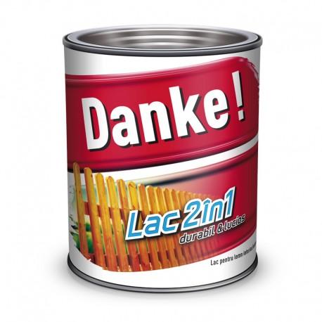 Lac colorat pentru lemn Danke 2 in 1 Castan 0.75l