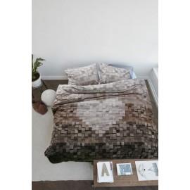 Lenjerie de pat rustica cu grinzi lemn