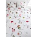 Lenjerie de pat cu fluturi si flori colorate