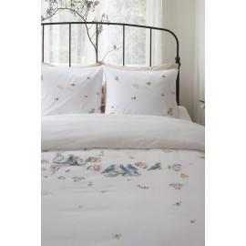 Lenjerie de pat cu fluturi si pasarele colorate