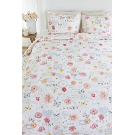 Lenjerie de pat cu trandafiri Shabby Chic